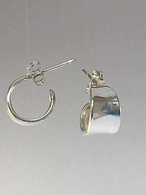 Sterling silver chunky hoop earrings