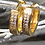 Thumbnail: Gold Vermeil Diamante Huggie