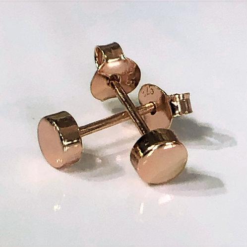 Rose gold dot stud earrings