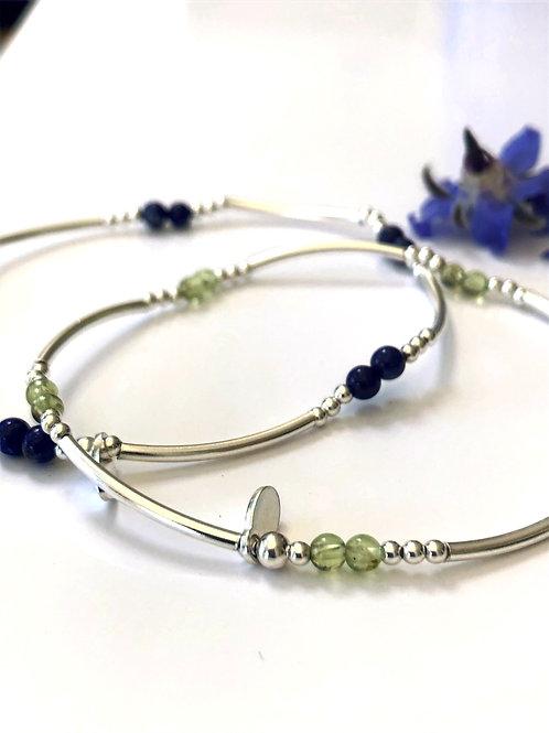 Silver and Semi Precious Stone Bracelet