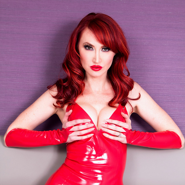 Kendra James red latex