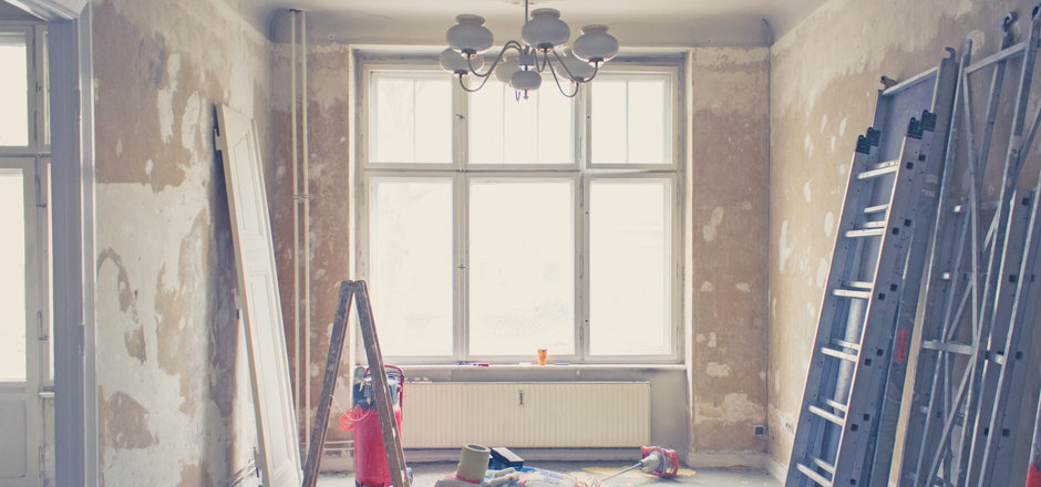 home renovation - old flat during renova