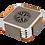 Thumbnail: Square Leatherette Coaster Metallic Edge Set