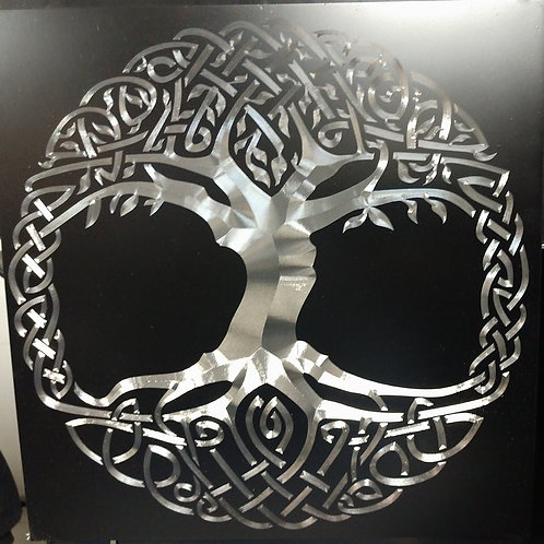 Knotwork Tree of Life engraved