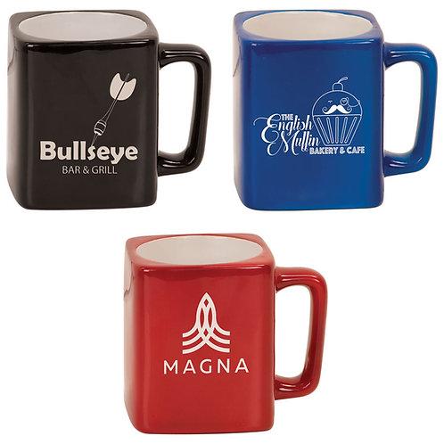 8 ounce Square Ceramic Coffee Mug