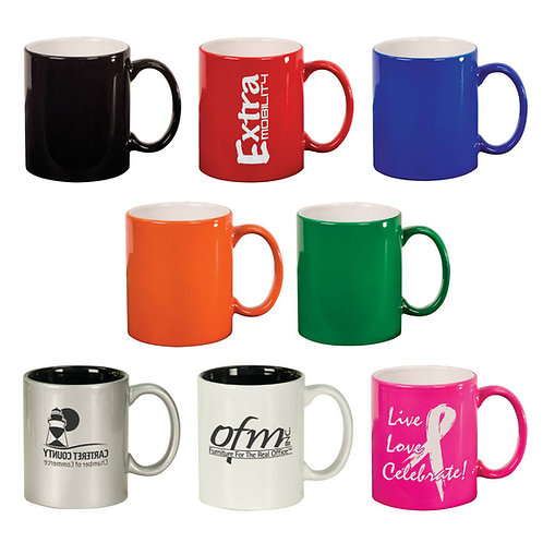 11 ounce Round Ceramic Coffee Mug