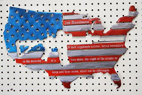 Second Amendment US Flag