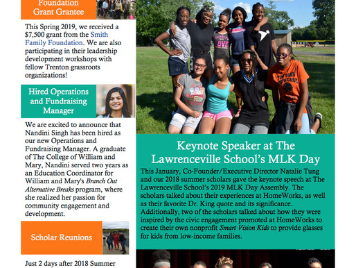 Check Out Our Fall 2018-Spring 2019 Newsletter!