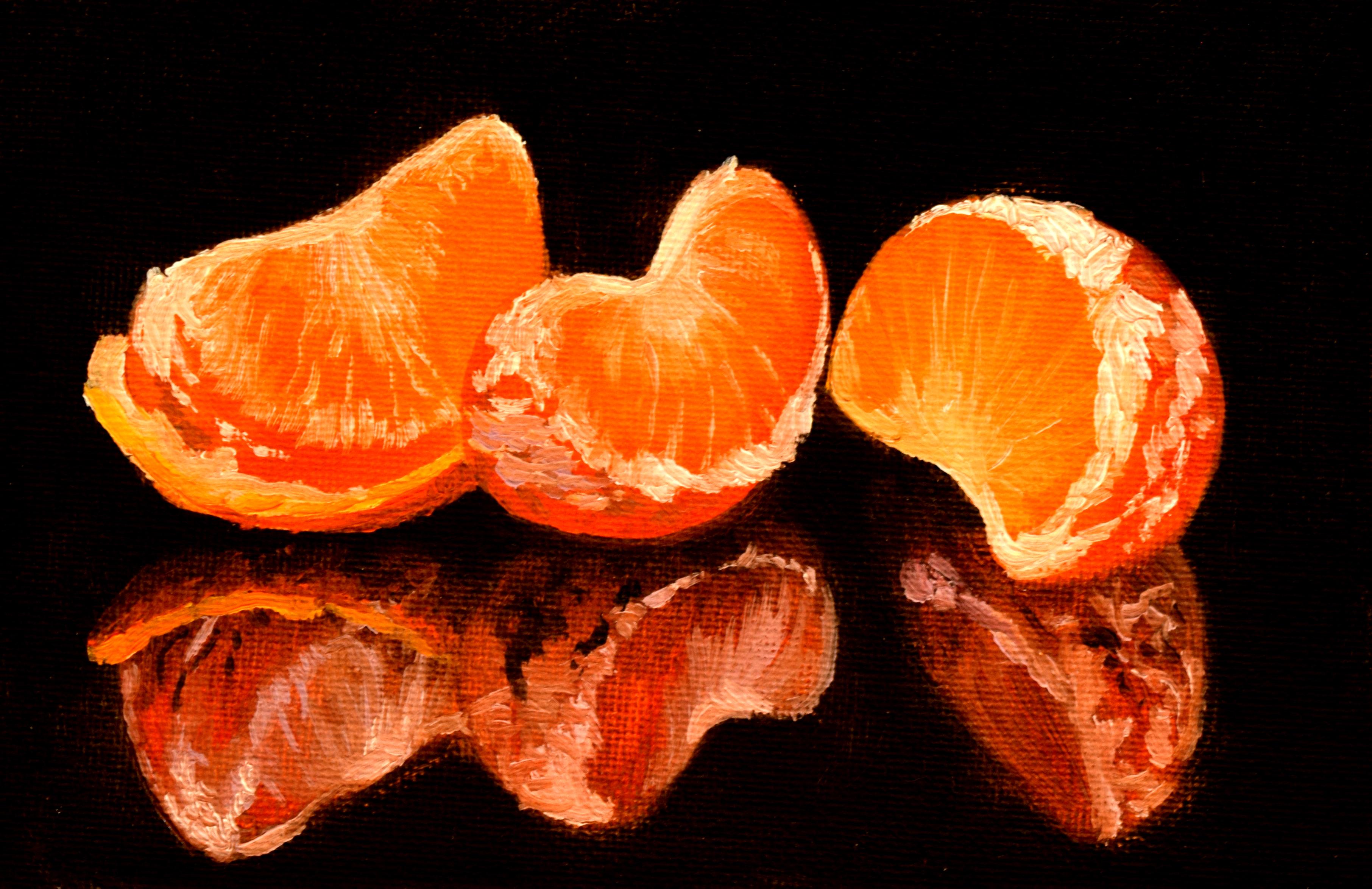 Three Mandarin Slices