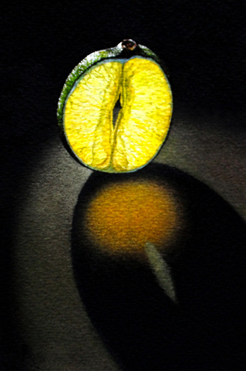 Glowing Lime Slice