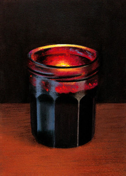 Jam Jar in Front of a Candle
