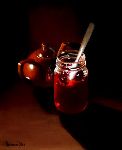 Cherry Jam and a Teapot
