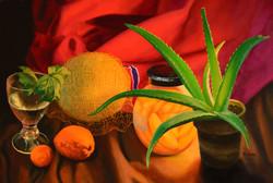 Aloe Plant and Mango Jar