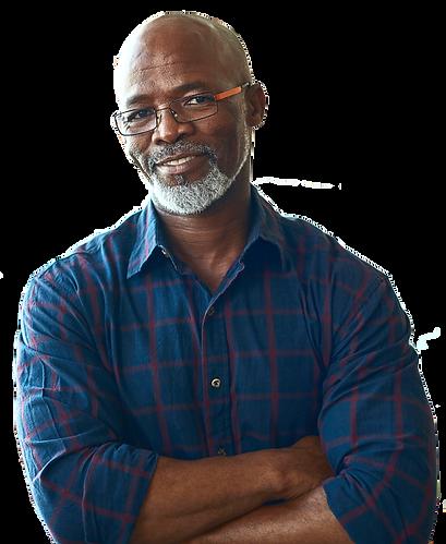 Welcoming man, African American,Senior
