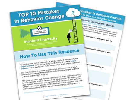 Avoiding The Top 10 Mistakes in Behavior Change