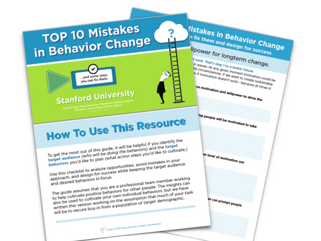 Avoiding The Top 10 Mistakes in Behavior Change