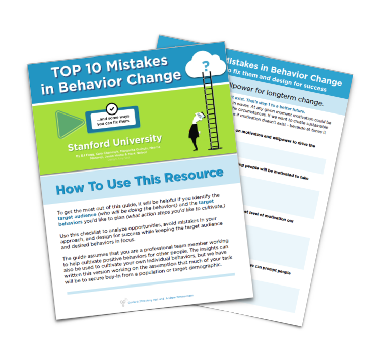 Behavior Change - Avoid the Top 10 Mistakes
