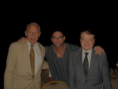 Robert Bob Gallo Luc Montagnier Bob Bowers HIV AIDS conference.jpg.png