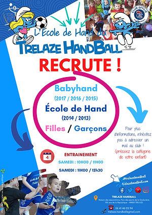 Recrutement Babyhand _ Ecole de Hand-pag