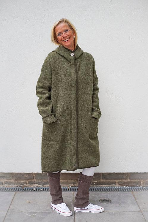 Mantel in gerader Form