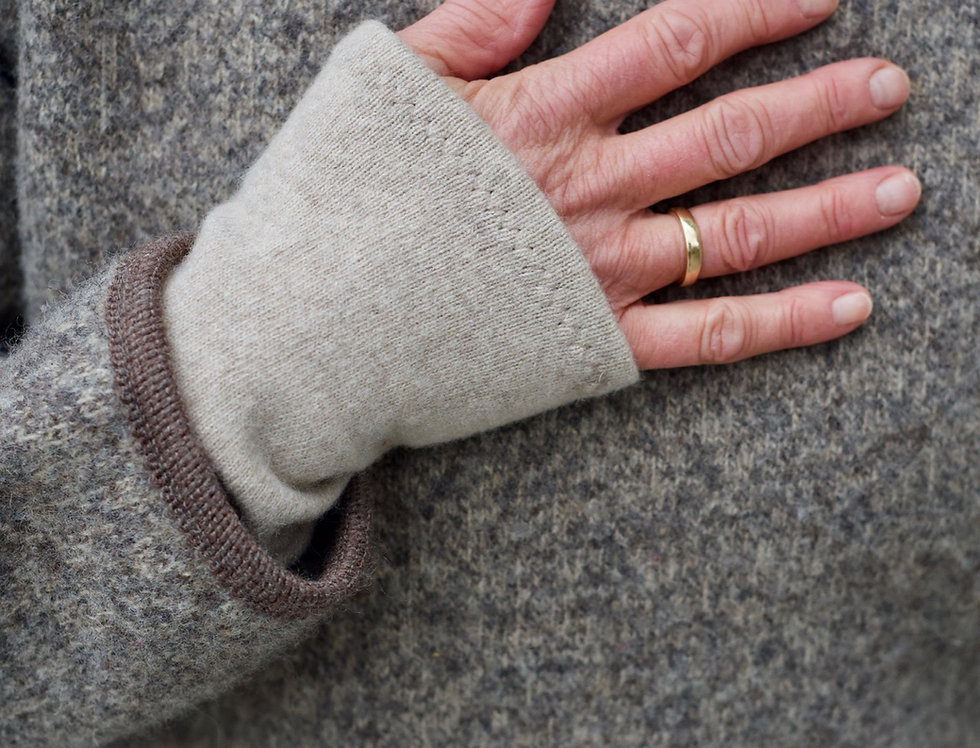 Pulswärmer Cashmere-Wolle/Merino