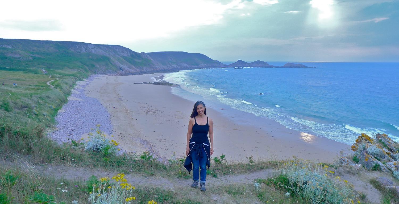 Marche au bord de l'océan