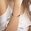 """Thumbnail: """"Sinner"""" Engraved Silver Bar String Bracelet"""