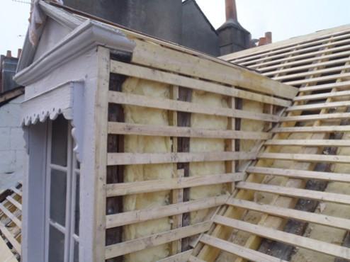 Isolation d'une lucarne et toiture – Babary Toitures de Touraine