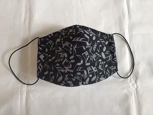 Maske MUSIK - mit weicher Vlies-Einlage