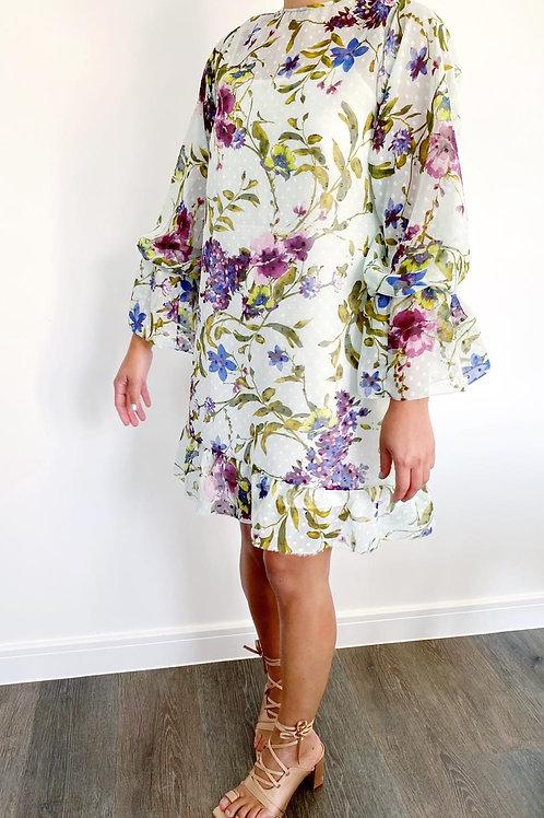 Bloom chiffon dress