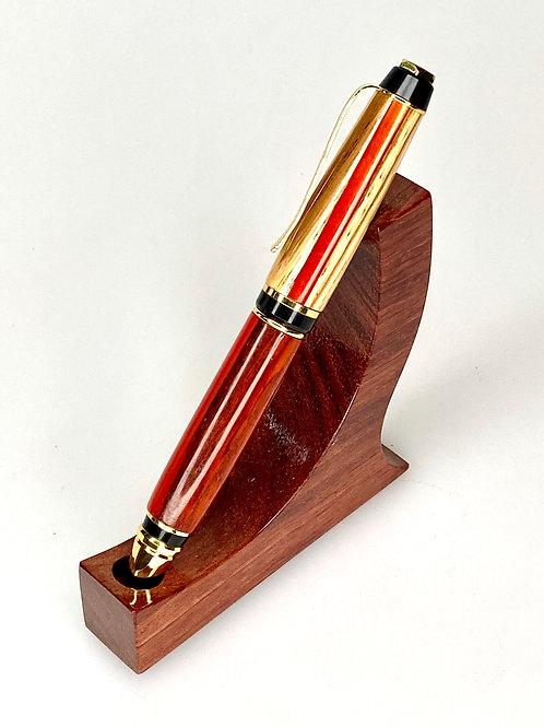 Шариковая ручка Зебрано, падук, смола