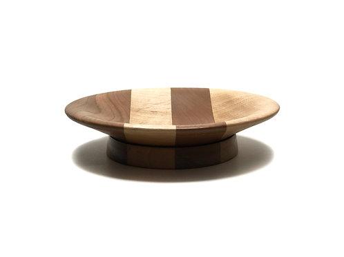 Деревянная тарелка(чаша)(древесина Walnut + Black Cherry)