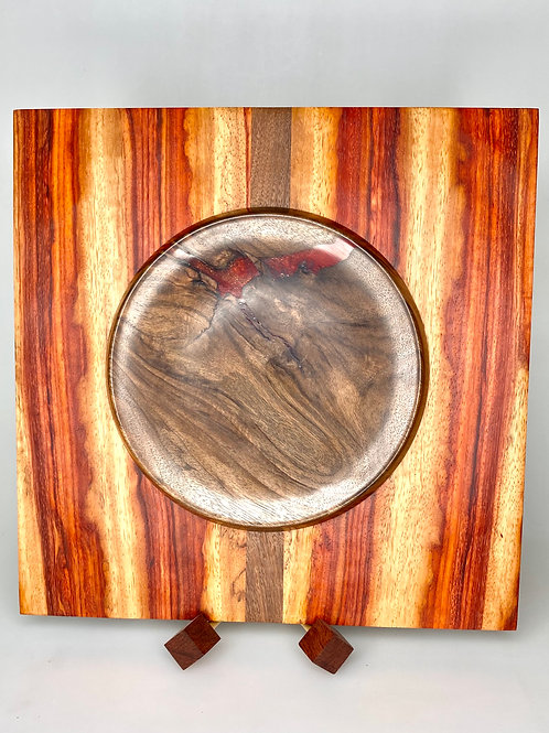 Деревянная чаша Тамаринд, орех, смола