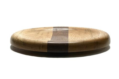 Деревянная тарелка(чаша)(древесина Limba + Walnut)