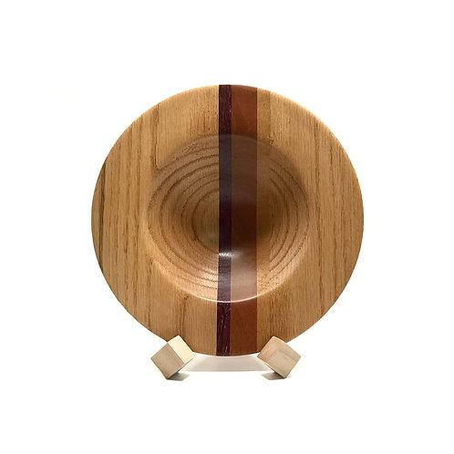 Деревянная тарелка(чаша)(Red Oak + Amaranth + Mahogany + Movingu)