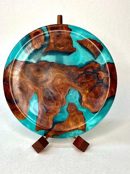 Чаша из ценных пород дерева  Карагач + смола