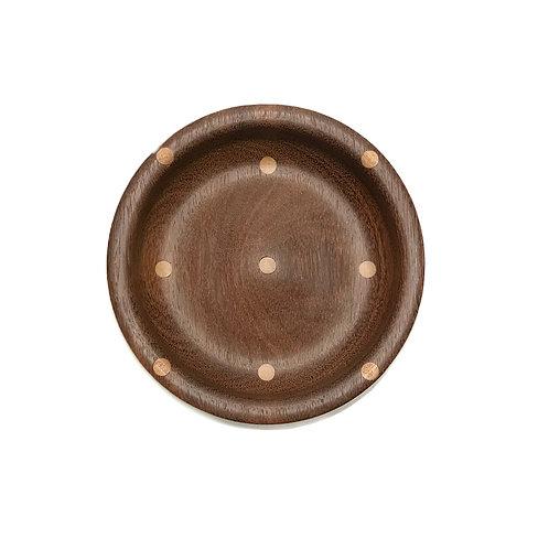 Деревянная чаша(тарелка)(Ovangkol+Mahogany)