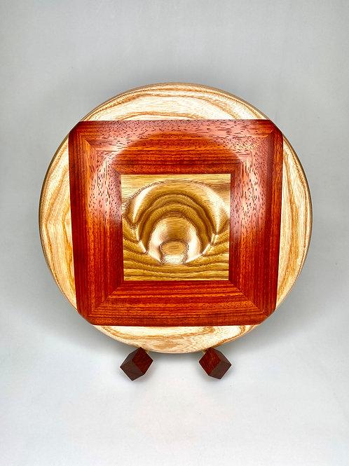 Деревянная чаша Термоясень, падук, дуб