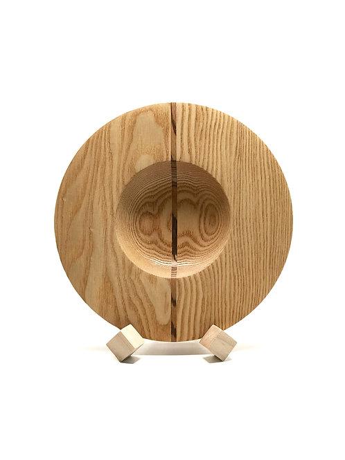 Деревянная тарелка(чаша)(Red Oak + Zebrawood)