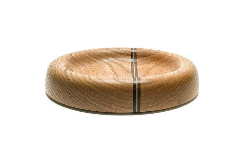 Деревянная чаша(тарелка)(Red Oak + Walnut)