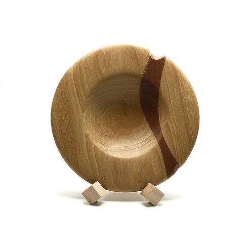 Деревянная тарелка(чаша)(Limba + Walnut)