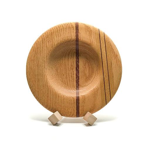 Деревянная тарелка(чаша)(Red Oak+Amaranth+Zebrawood)