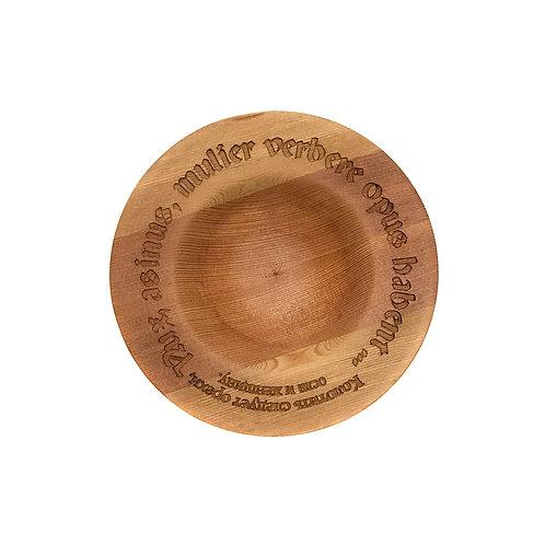 Деревянная тарелка(чаша)(древесина Thermo Larch)