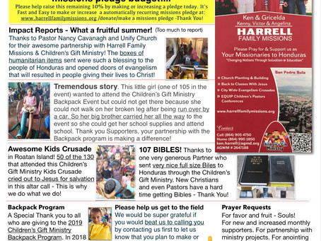 Harrell Family Missions Update Summer 2019