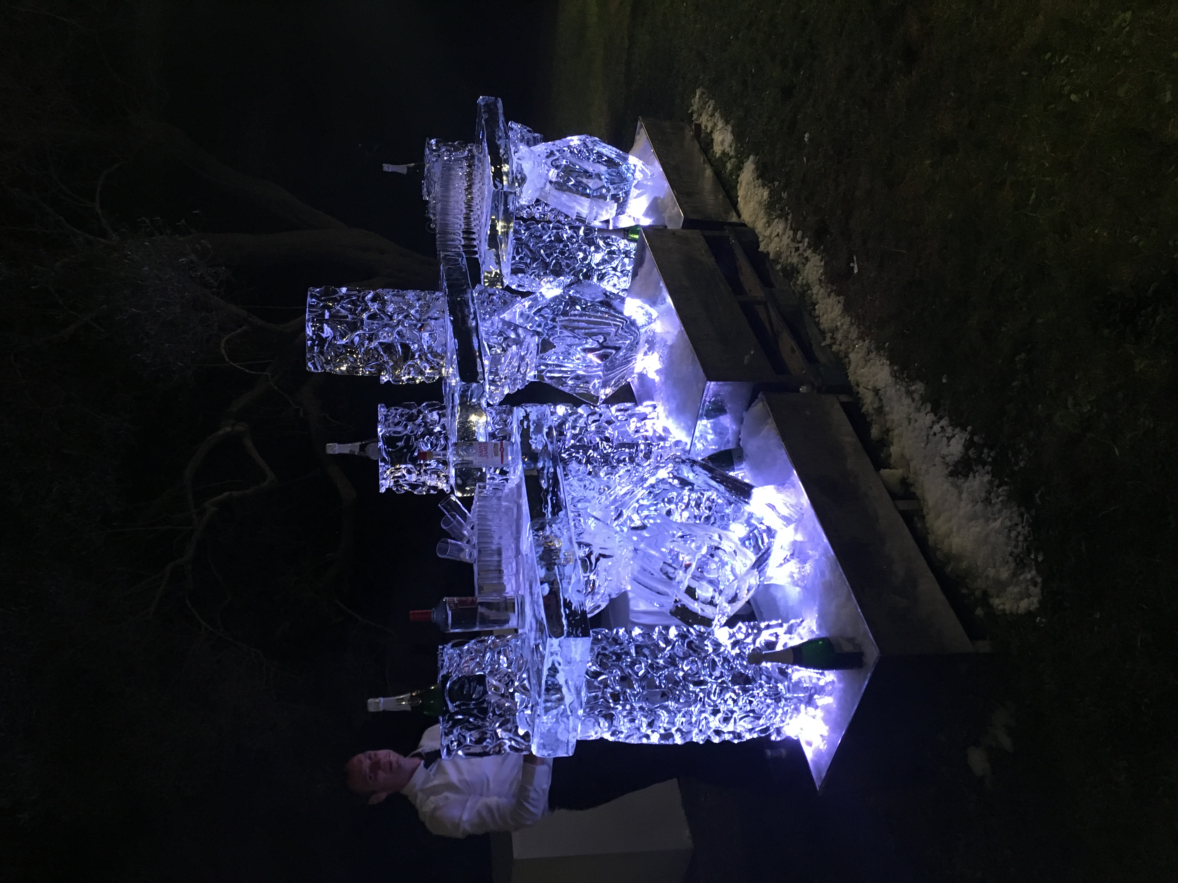 3 mètres de Bar en Glace personnalisés