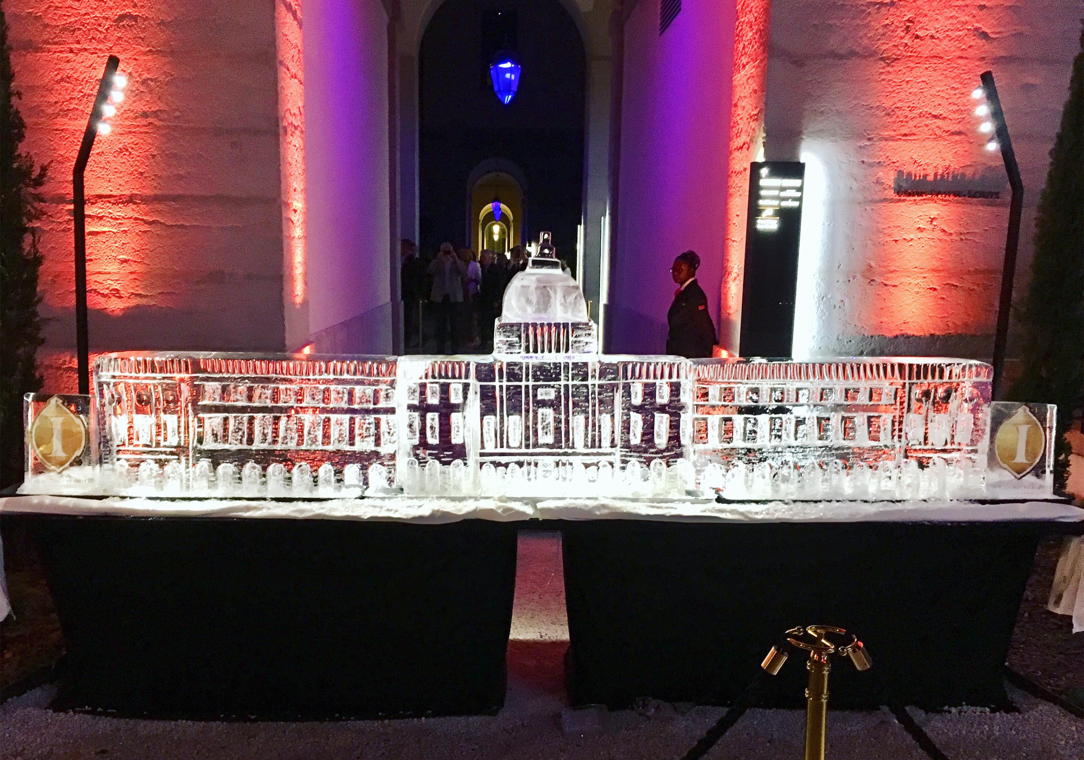 Ice sculpture.