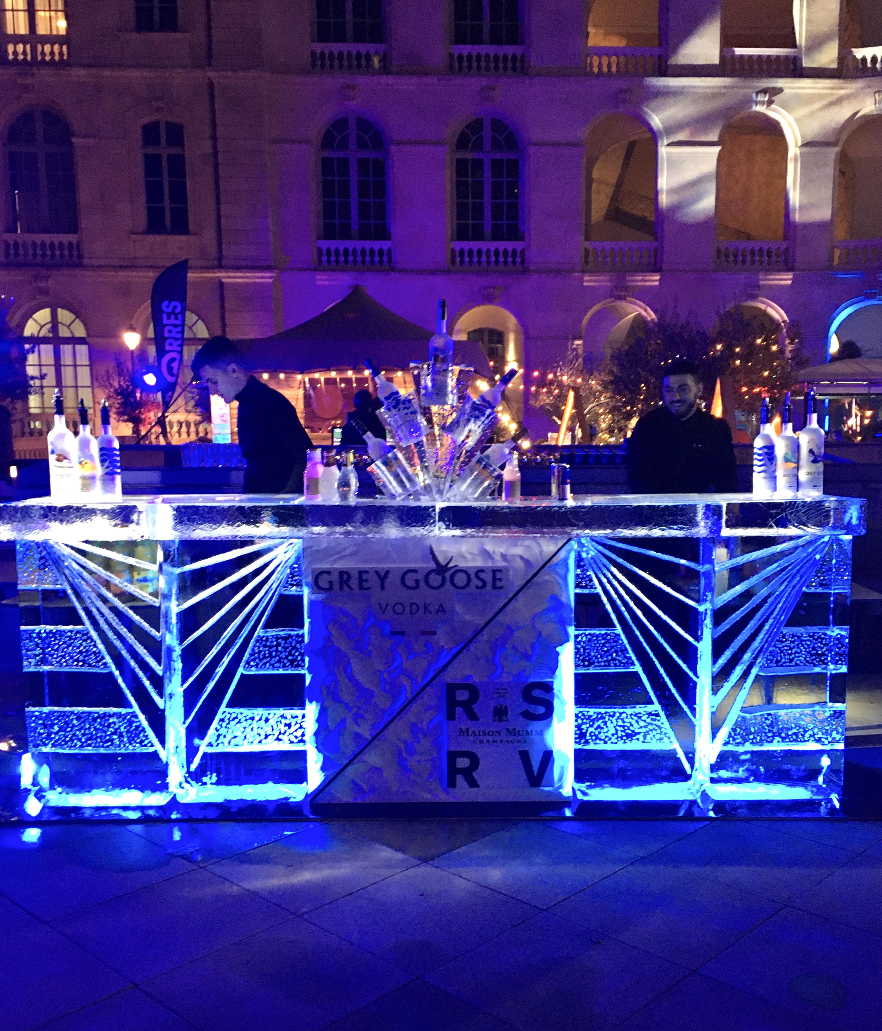Ice Bar, Bar en glace, bar, sculpture sur glace