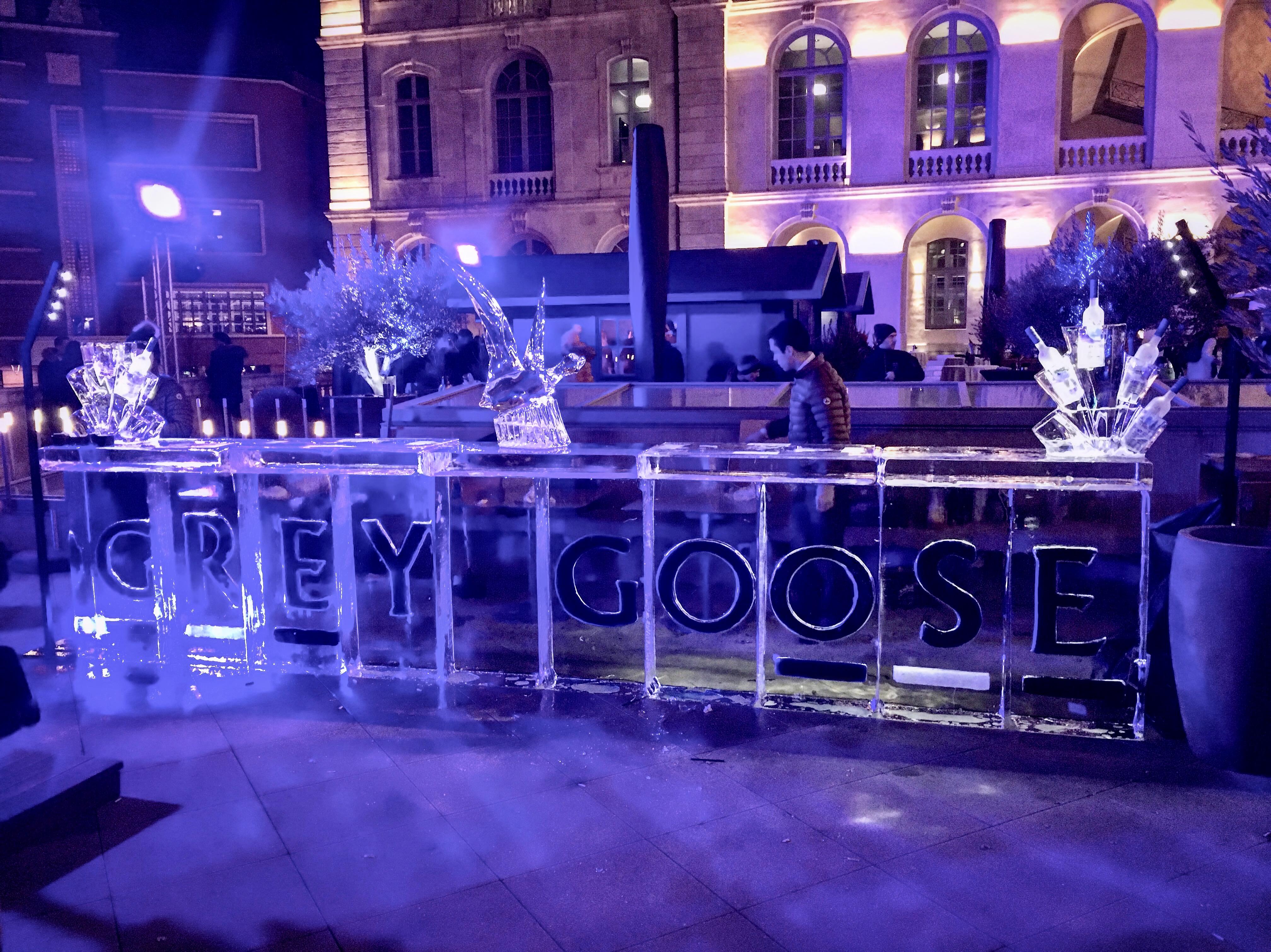 Bar en glace, France, sculpture sur glace France