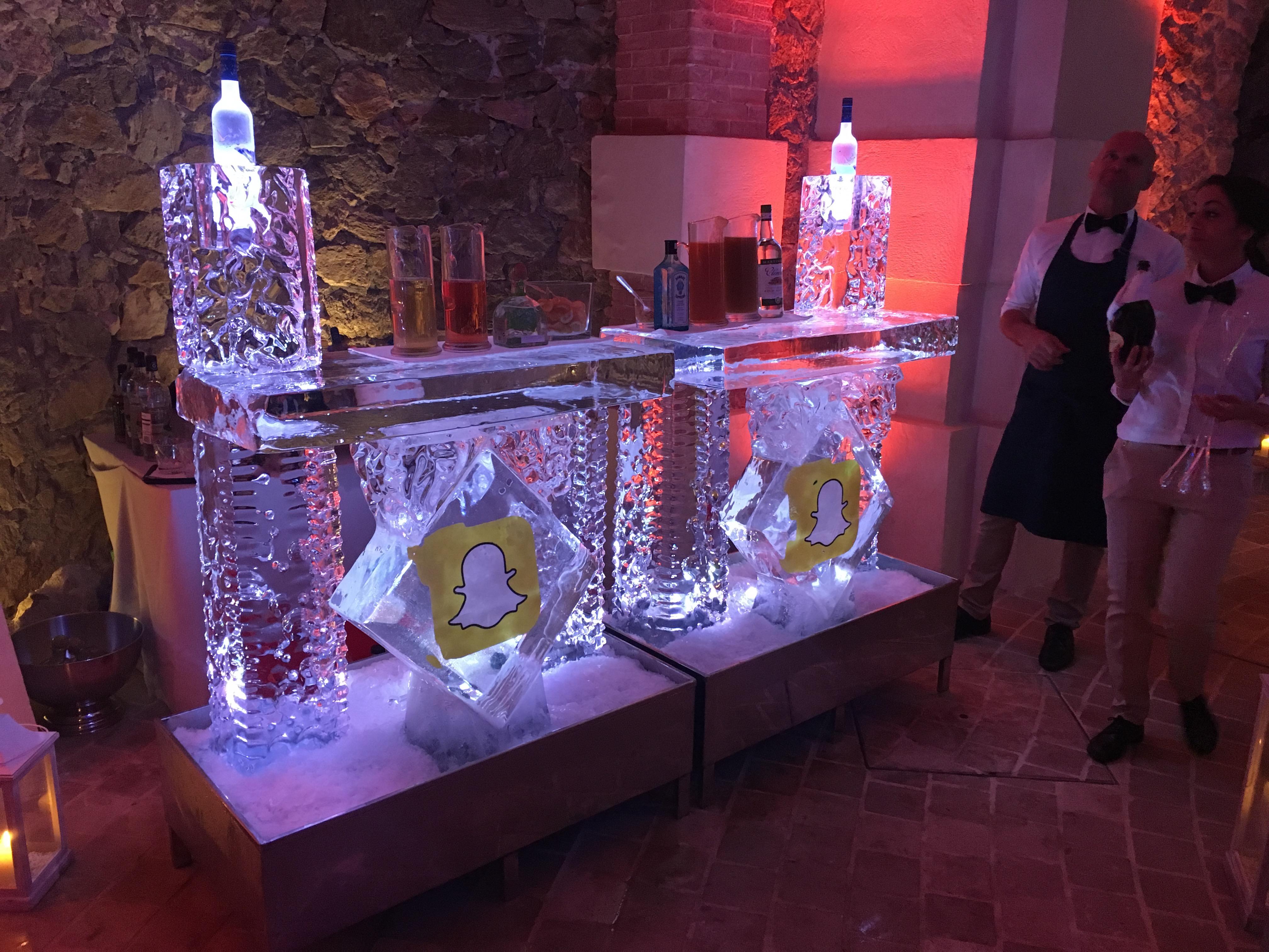 Bar en glace sculpté, cannes, Sculpture sur glace Cannes