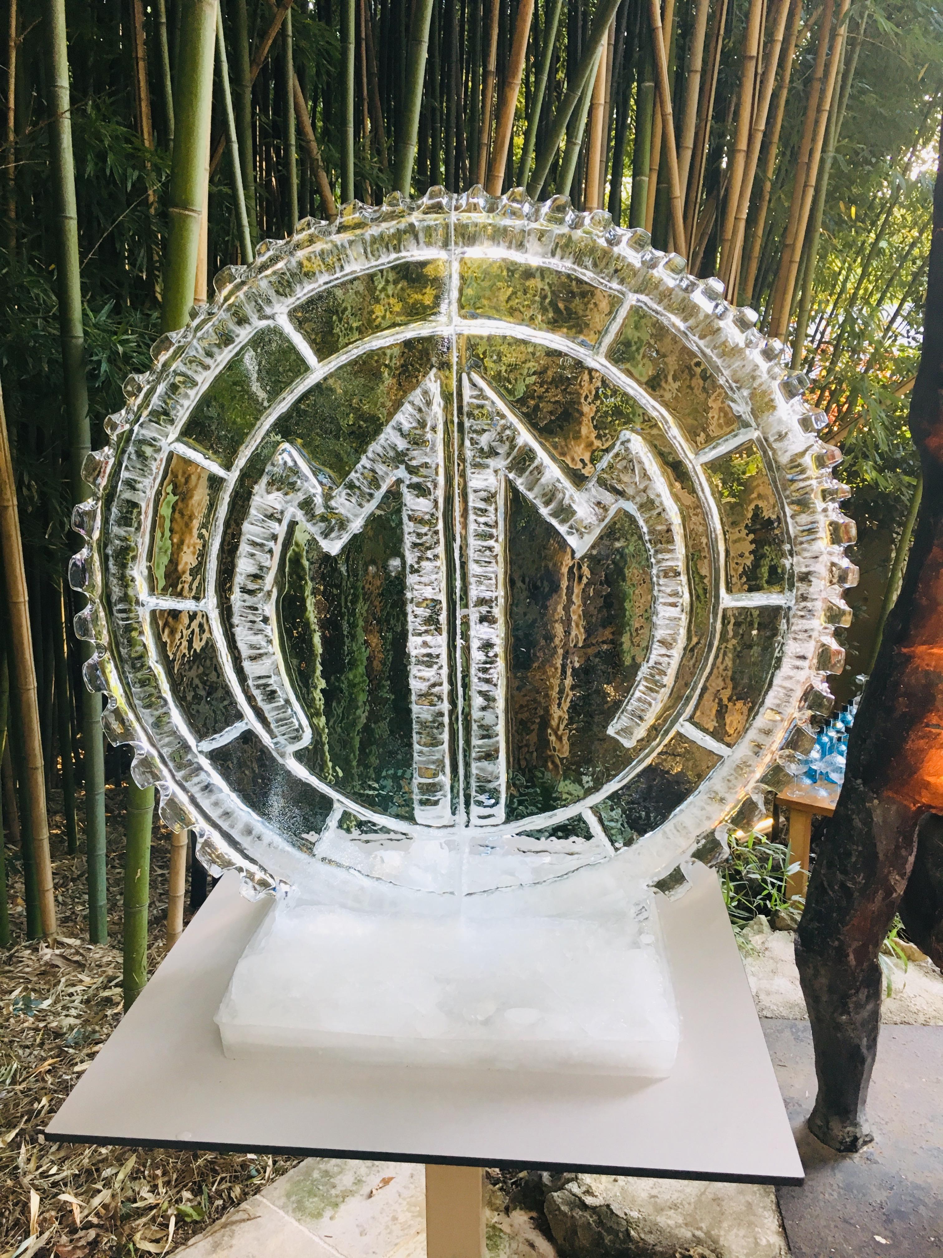 Sculpture sur glace Cannes, France